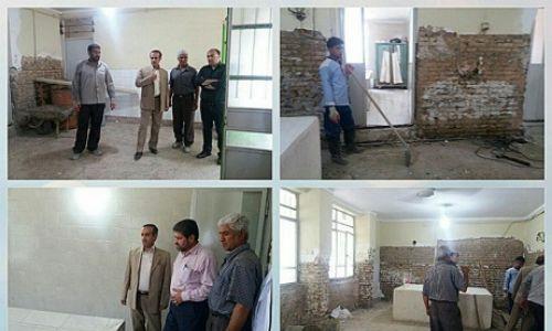 بازدید از روند تعمیرات و بازسازی غسالخانه آرامستان شهرفاضل آباد