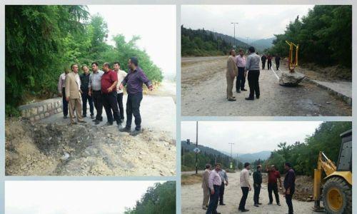 بازدیداز پروژه احداث پارک خطی مسیر گردشگری پارک جنگلی امام رضا شهرستان فاضل آباد